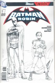 Batman And Robin #1 Frank Quitely Retail Sketch Variant comic book 1:250 DC Comics